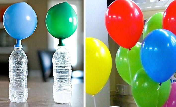 Truco para hacer que los globos vuelen sin usar helio - Como limpiar la lavadora con vinagre y bicarbonato ...