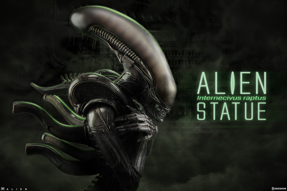 Alien Internecivus Raptus Statue 014 Infinite Earths Sideshow Announced