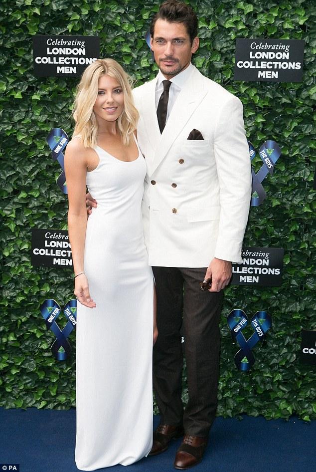 Mollie King arrived with her model boyfriend David Gandy