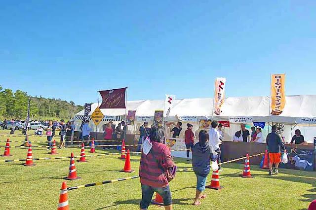 festival, tents, food, short lines