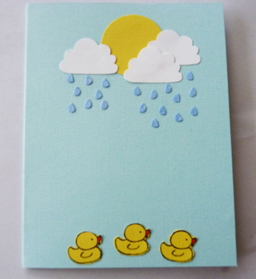 Susan Ginley. Three Little Ducks Card.