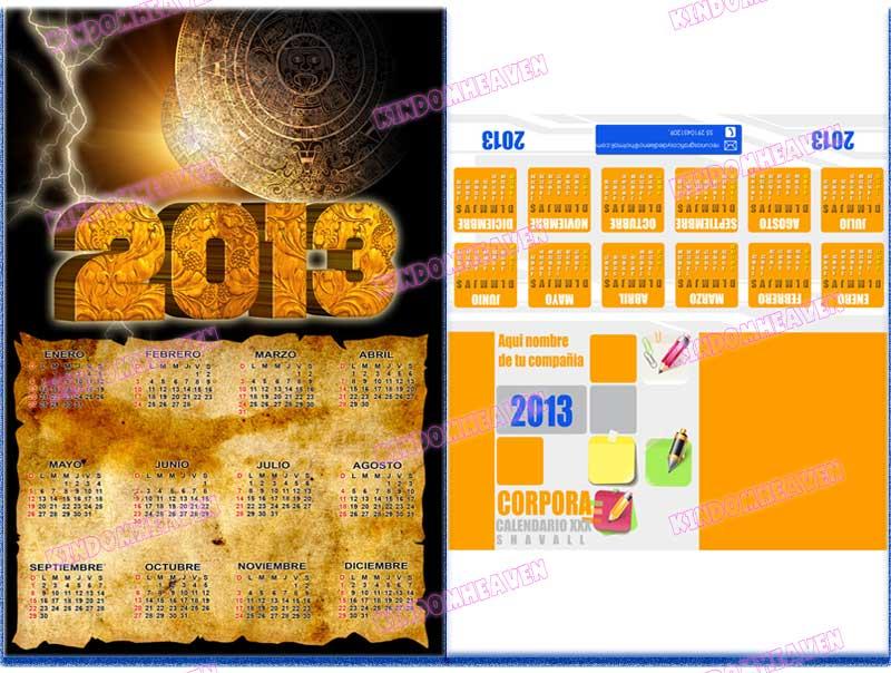 calendario 2013 maya para imprimir almanaque corporativo de mesa 2013