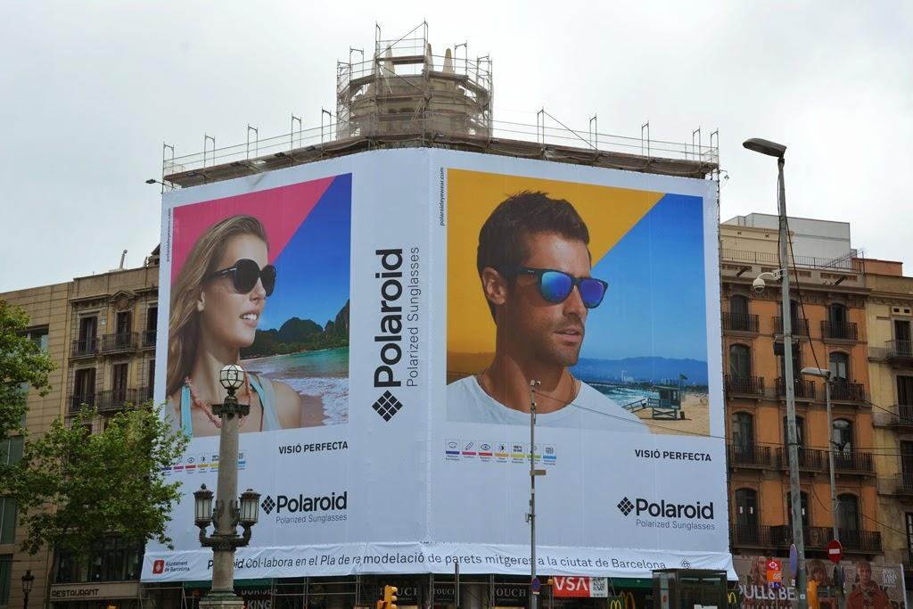 Plaza Catalunya Barcelona Polaroid