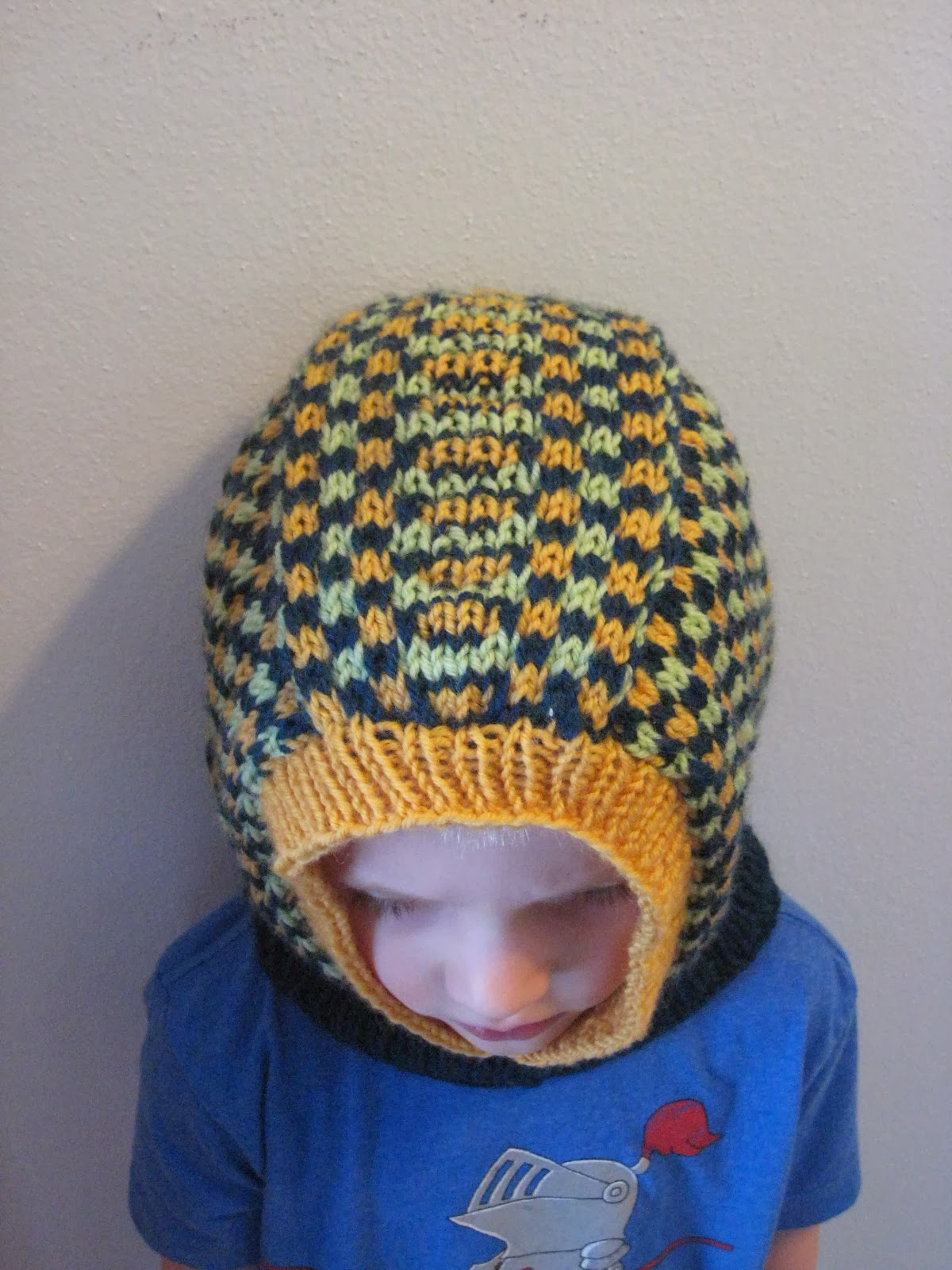 Balls to the Walls Knits: Kids\' Dice Check Balaclava