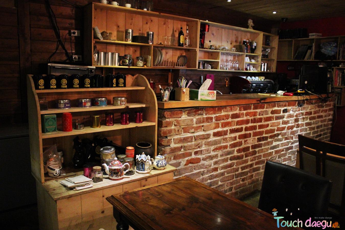 Bar interior of Cafe Doyo