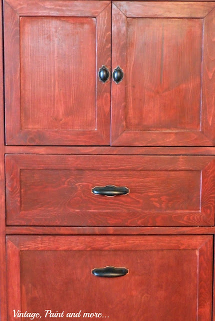Vintage, Paint and more... hardware on multipurpose cabinet