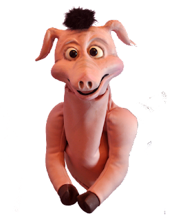 Pig Latex Puppet with hair