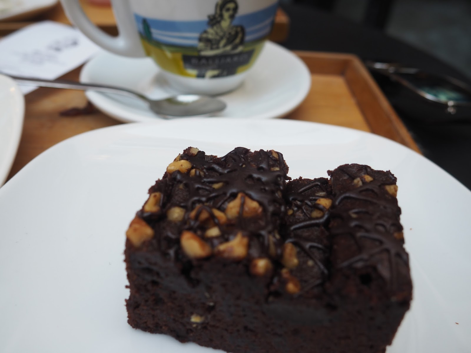 Barcelona Baluard Cafe Bakery Brownie Blog Post Review