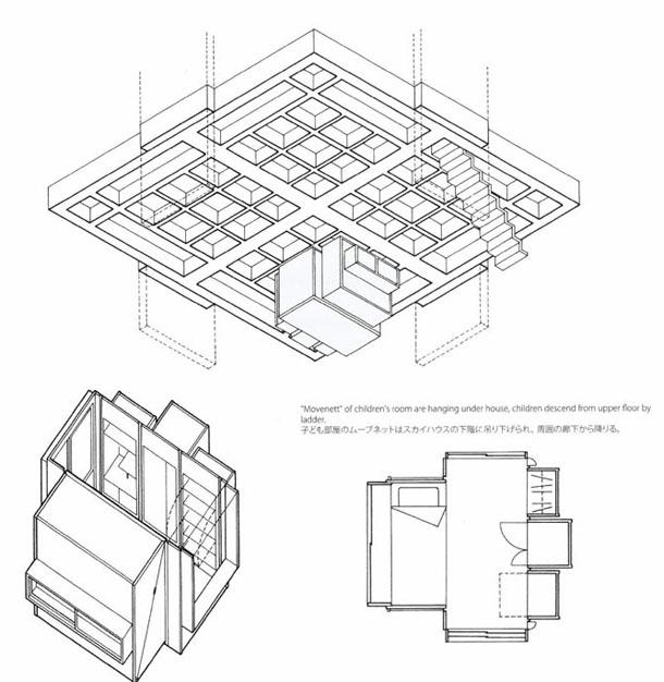 Sky House - a arquitectura metabolista de Kiyonori Kikutake