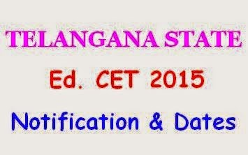 Telangana Ed.CET Notification 2015 TG / TS Ed.CET Notification 2015 With Syllabus,Telangana TS EDCET 2015 Notification TS EdCET 2015, EdCET, 2 Two Year B.Ed Course, Telangana EdCET 2015 Notification Schedule, TSCHE, OU,  Bachelor of education Common Entrance Test, Telangana / TS EdCET 2015 Notification,Telangana State Education Common Entrance Test-2015 Eligibility for EdCET and Important Dates, Online Applying, TSEdCET Website, B.Ed Entrance Test