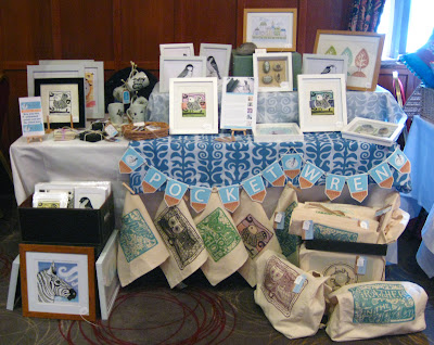 Pocket Wren stall at Last Drop Village Craft Fair, Bolton.