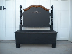 twin headboard bench...SOLD