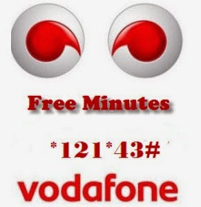 Dial *121*43# and Get Free Vodafone Minutes, how to get free minutes, free call vofafone