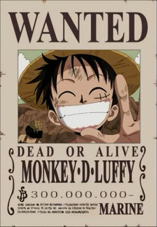 Free Famous Cartoon PicturesOne Piece Luffy Wanted Posters