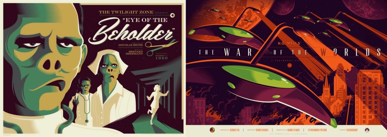 Seminal Film Series & The Twilight Zone by Tom Whalen & Dark Hall Mansion - Undead Monday