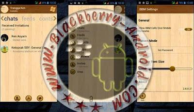 BBM2 Mod WindowsPhone Tema Wood Terbaru V2.8.0.21 Apk