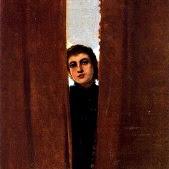 'Dona entre cortines (Cecilio Pla Gallardo)'