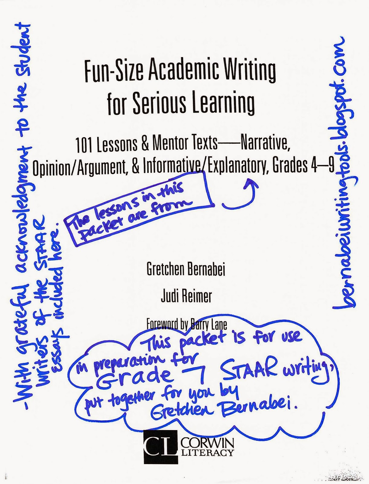 bernabei writing tools  grade 7 remediation packet for