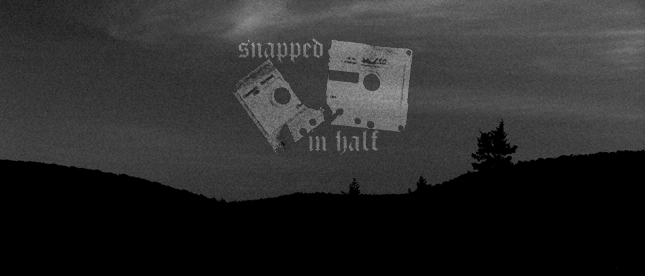 snapped in half