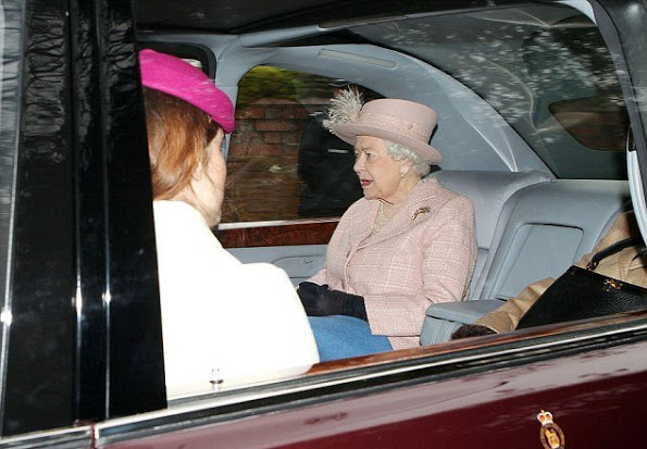 H.M. Queen Elizabeth Attended Last Sunday Service In St Mary Magdalene Church
