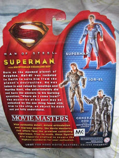 DC comics Movie Masters Superman Man of Steel JLU Justice League Kryptonian Command Key armor General Zod Foara