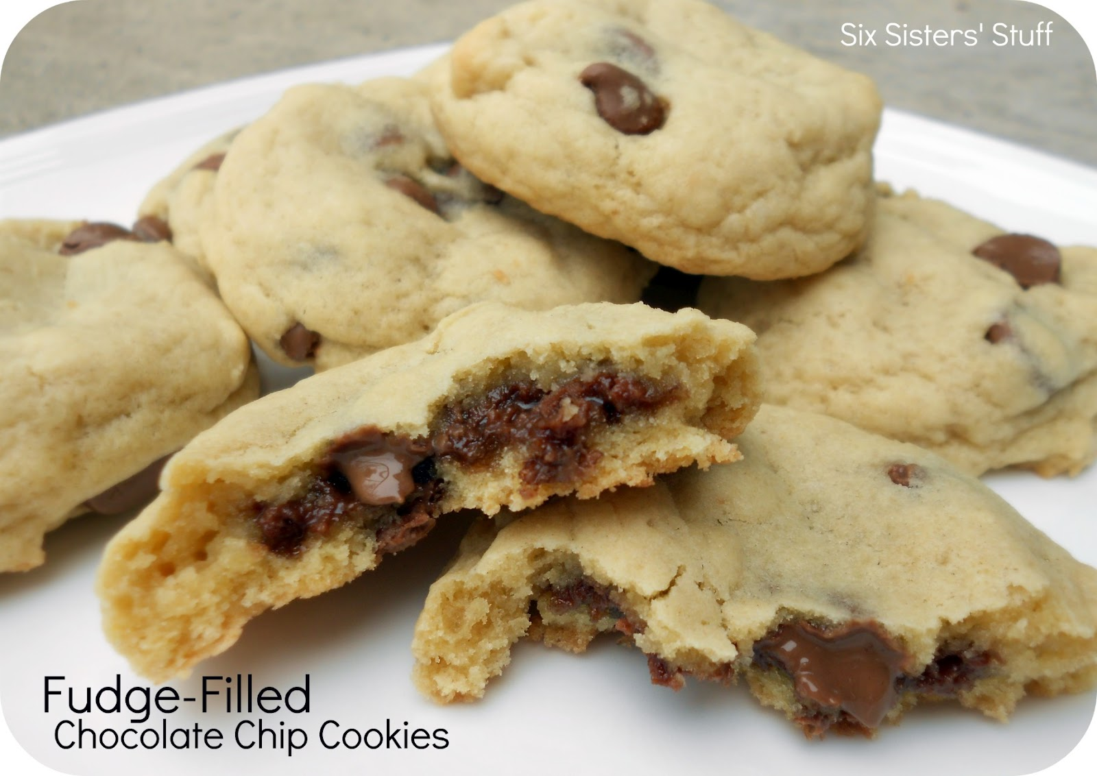 Fudge-Filled Chocolate Chip Cookies Recipe | Six Sisters' Stuff
