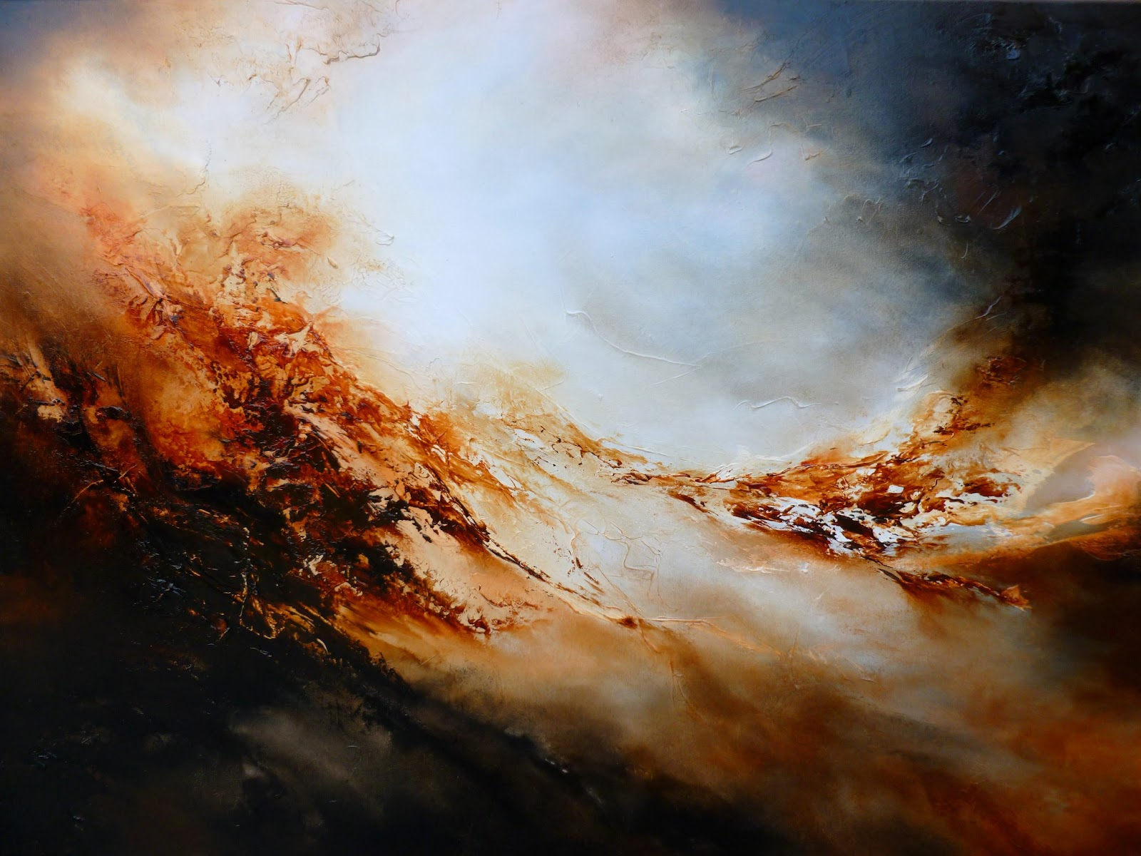 Abstract paintings by artist simon kenny abstract for Oil art for sale