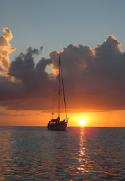Layla at anchor at Crab Cay, Abacos, Bahamas
