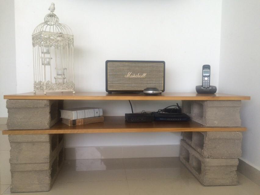 C mo hacer un mueble de t v con poco presupuesto - Muebles con ladrillos ...