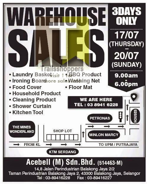 Household Products Warehouse Sale 2014