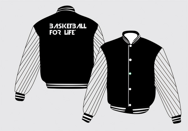 Basketball Jacket Template Vector