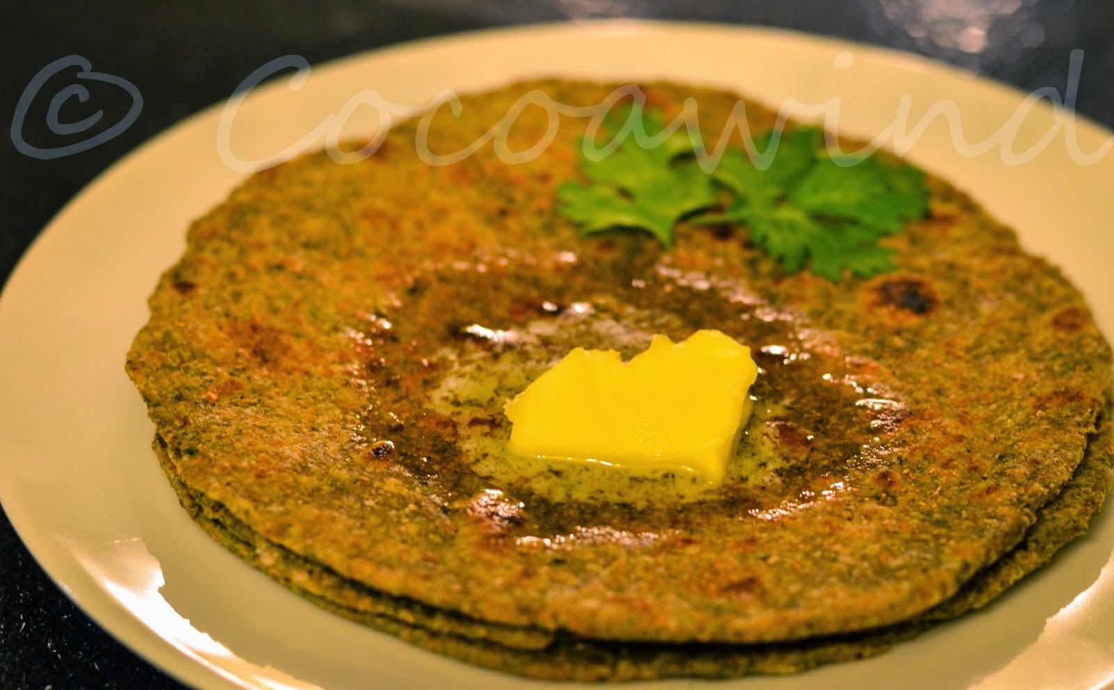 Whole-wheat Spinach Pesto Paratha