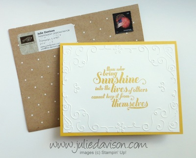 Stampin' Up! Feels Goods Card