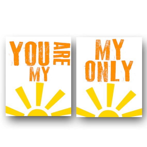 Fresh This Set of You Are My Sunshine Nursery Decor Kids Wall Art is a wonderful way to brighten up any room Let your little one know just how much adore them