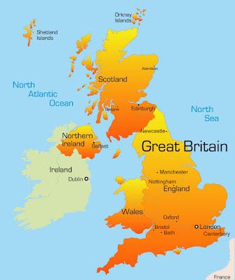 Kart over Storbritannia