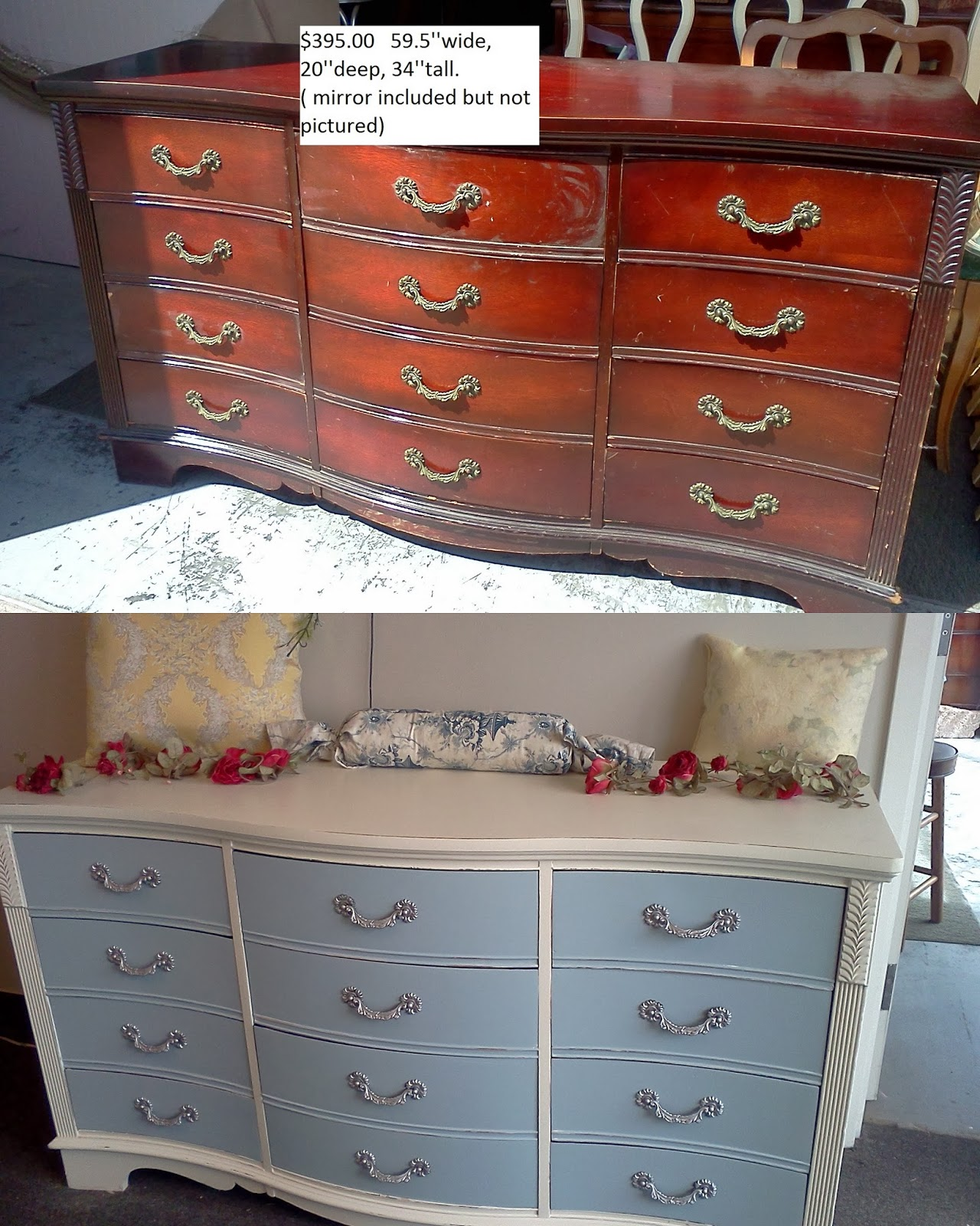 Painting furniture shabby chic - Before And After Shabby Chic Vintage Furniture Makeovers
