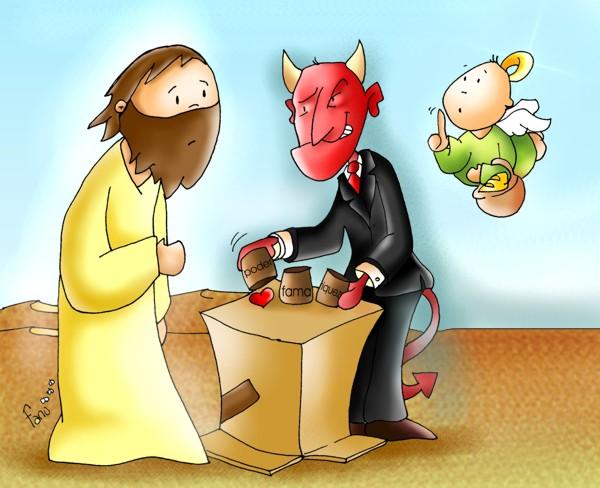 Resultado de imagen de tentaciones jesus fano