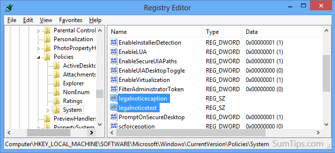 startup message registry