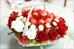 Gubahan Bakul Lolly Rose