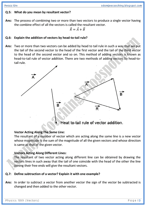 vectors-question-answers-physics-10th