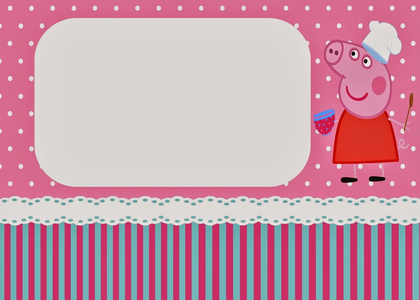 Peppa Pig Cooking Free Printable Kit. | Is it for PARTIES? Is it ...
