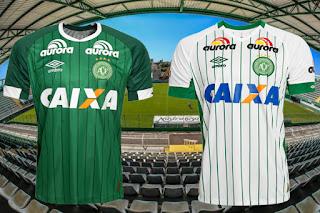 Uniforme I e II Chapecoense Umbro 2015
