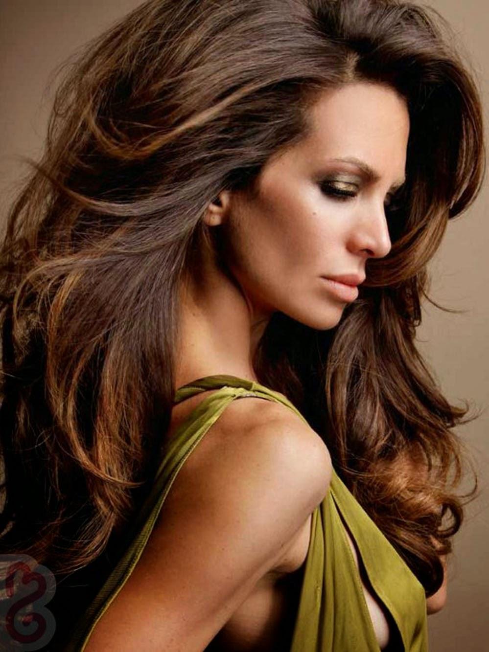 Прически коричневый волос фото