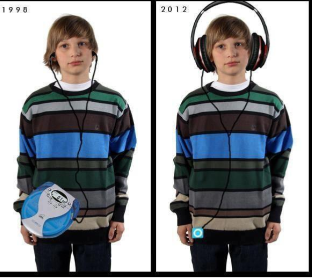 funny, walkman and headphone