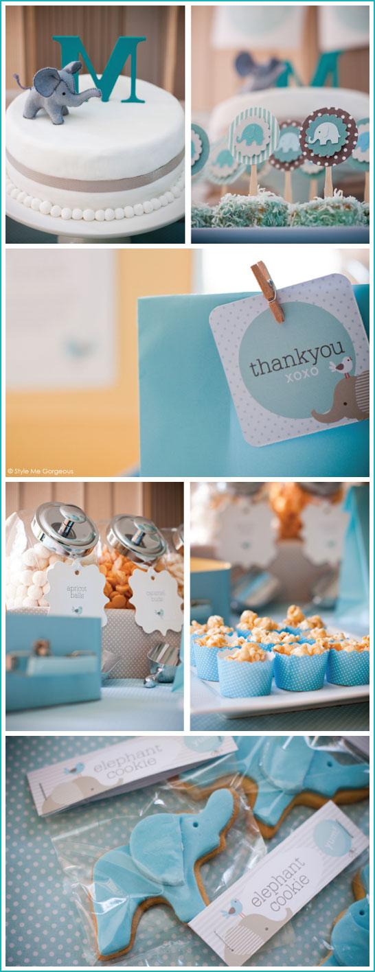 elephant garland bright yellow & gray. baby shower, decor, high, Baby shower invitations