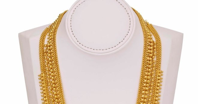 Lalitha Jewellers Gold Gundla Haram In Two Steps With
