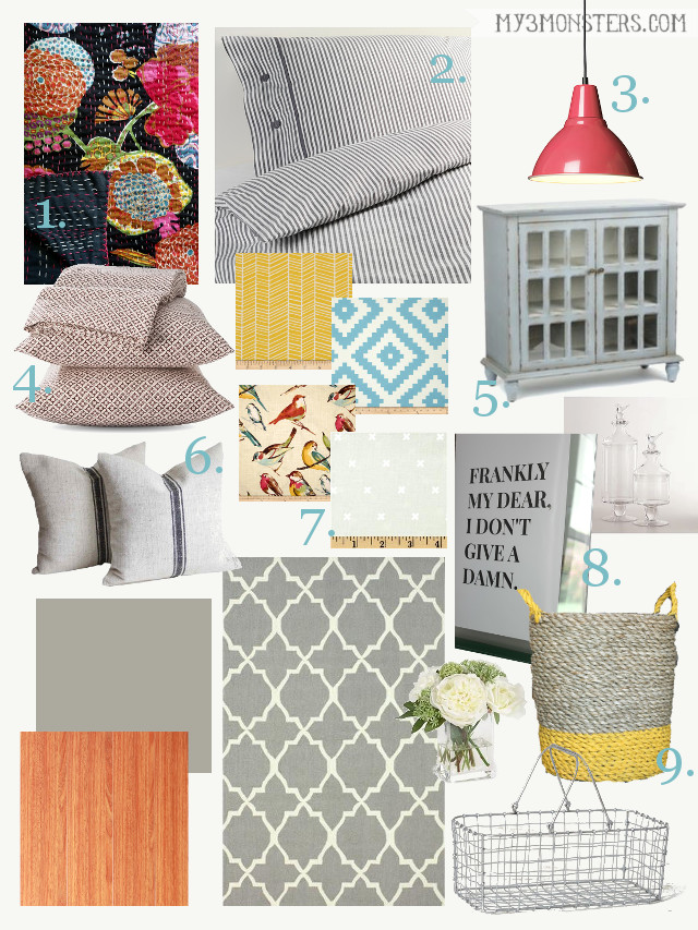 Master Bedroom Plan for a light, bright and eclectic refresh at my3monsters.com