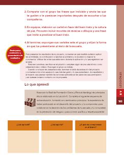 Cultura de paz y buen trato - Formación Cívica y Ética 6to Bloque 5 2014-2015