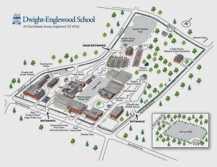 Dwight-Englewood School Campus Map