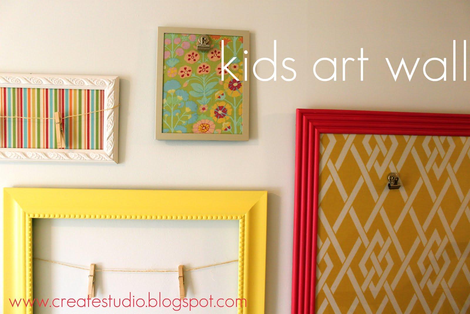 Create Studio How To Make A Kids Art Wall